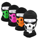 Opromo Balaclava Ski Skull Face Mask Ghosts Face Cover for Cosplay Party Halloween Motorcycle Bike Cycling Outdoor Skateboard Hiking Skiing