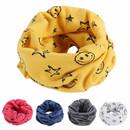 Muka Toddler Cotton Scarves Knit Shawl Wrap Unisex O-ring Neck Warmer, 7 7/8