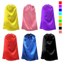 Opromo Superhero Double Satin Cape For Kids & Adults, Party Favors, Size XS - L