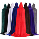 Opromo Unisex Mardi Gras Wizard Cape, Shiny Christmas Hooded Cloak, Halloween Costumes And Dress Up