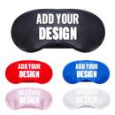 Custom Black Polyester Sleep Mask, Eye Mask, 3 1/2