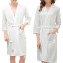 Opromo Unisex Adults Kimono Waffle Hotel Bathrobe Spa Robes for Men and Women