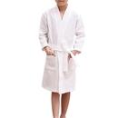 Opromo Child Kids Cotton Waffle Kimono Robe Spa Hotel Bathrobe with Pockets
