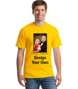 Opromo Personlized Colorful T Shirt with Full Color Image by Gildan, No Minimums, 4.6oz