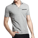 Opromo Blank Cotton Polo Jersey with Printed Logo or Embroidery, 6.1oz