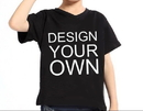Custom Opromo Youth V Neck Short Sleeve Cotton T Shirt, 5.3oz
