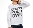 Custom Opromo Youth Round Neck Cotton Long Sleeve T Shirt, 5.3oz