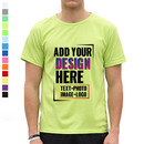 Custom Moisture-wicking Dry Fit Lightweight T-Shirts (S-XXL) - One Color Printing