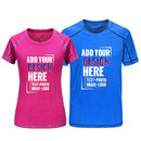 Custom Men's Women's Running Short Sleeve Athletic Top, Fitted Short Sleeve Crew