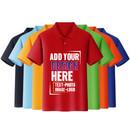 Custom Short Sleeve Quick-Dry Polo Golf Shirt Regular-fit T-Shirt Knit Top Tee