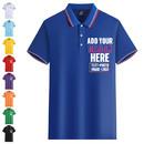 Custom Short Sleeve Men's Striped Collar Polo Shirt Regular-fit Polo Golf Knit Tee