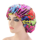 TOPTIE Women Satin Lined Bouffant Hair-Dyeing Bonnet Hat Adjustable Sleep Cap African Print Fabric Ankara Ladies Turban