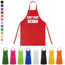 Custom Cotton Canvas Kids Aprons with Pocket, Artist Apron & Chef Apron - 1 Color Printing