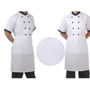Opromo Half Bistro Apron with One Pocket, 25.5