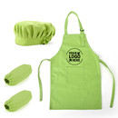 Custom Colorful Cotton Canvas Kids Apron, Chef Hat and Oversleeve Set, Party Favors - Full Color Printing