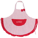 Custom Canvas Girls Apron, Lovely Red Dot/Black Dot Apron, 25.5