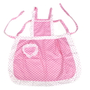 Blank Girls Pink Dot Lovely Apron with Pocket, Double-Layer Waterproof Apron, Kids Apron