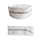 Food Service Disposable Paper Flat Chef Hat, 11.5