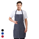 Opromo Adjustable Chalk Stripe Bib Apron with Two Pockets,Two Size 31