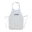Custom White Disposable Non Woven Apron, 16 1/2