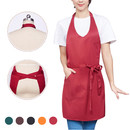 V-Neck Tuxedo Adjustable Apron with One Front Pocket, 22