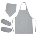 Waterproof Polyester Kids Apron, Head Scarf and Oversleeve Set, Party Favors