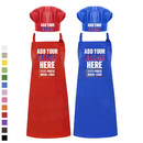 Custom Cotton Canvas Adjustable Apron Chef Hat Set for Men and Women