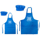 Custom Cotton Canvas Aprons, Chef Hats for Women and Kids, Parent-Child Set
