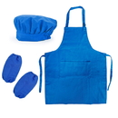 Cotton Canvas Adjustable Kitchen Apron, Chef Hat and Oversleeves Set