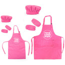 Custom Cotton Canvas Kitchen Apron, Chef Hat and Oversleeves Set for Women and Kids, Parent-Child Set, Family Set