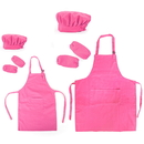 Cotton Canvas Kitchen Apron, Chef Hat and Oversleeves Set for Women and Kids, Parent-Child Set, Family Set