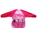 Custom Kids' Long Sleeve Waterproof Polyester Art Smock Painting Bib Aprons with Front Pockets(2-10 years)