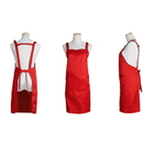 Blank Unisex Adjustable Waterproof Polyester/Cotton Apron with Three Pockets,27.5