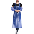 Blank Transparent Waterproof Polka Dots Apron with 2 Oversleeves, Vinyl Apron for Men and Women