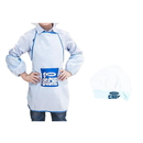Blank Kids Apron & Chef Hat & Sleeve Set for Art Painting, Cooking, Baking, Community Event,16