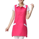 Specialized Cotton-Polyester Sleeveless Uniform Apron for Hair/Nail Beauty Salon, With Two Pockets, 9 Colors