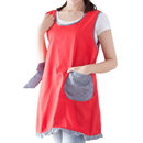 Opromo Cute Women Vest Ruffle Apron with Bowknot and Pocket, Various of Colors