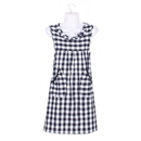 Opromo Cotton Women Apron with Bowknot and Two Pockets, Four Colors in Stock