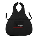 "Custom Logo Professional Salon Preventive Apron Uniform with Two Big Pockets and Four Small Slots for Tools, 23 1/2""W x 36 1/2""H"