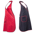 Opromo Light Weight Waterproof Hair Salon Apron Hair Dressing Apron with One Pocket, Black and Red