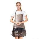 Opromo Transparent Adults Apron Bib (Clear with 2 Pockets) 24 1/2 x 27 1/2 inches