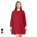 TOPTIE Salon Hair Cutting Robe Gown Waterproof Barber Smock Nail Tech Uniform with 2 Pockets and Belts
