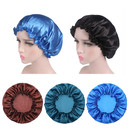 Satin Bonnet Night Sleep Cap Cosmetic Cap Hair-Dyeing Hat Soft Head Cover Turbans for Women and Girls