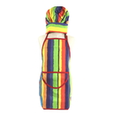 Rainbow Stripes Child's Poly Cotton Chef Apron Hat Set, Cute Kids Baking and Cooking Wear Set with Pocket and Adjustable Belts, Party Favors(For Age 4-6)