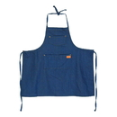 Opromo Unisex Kids Denim Apron Cotton Cowboy Children's Jeans Chef Apron with Pockets, 21