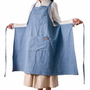 Opromo Unisex Adjustable Denim Jean Cowboy Kitchen Bib Apron with Multi-use Pockets for Women Men, Eco Friendly and Safe, 33 1/2