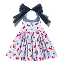 Opromo Cotton Cute Lovely Baby Kids Aprons, Waterproof Dress Apron for Toddlers and Preschoolers, Party Favors(3 Size: S, M, L)