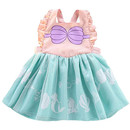TeeVoo Princess Aprons Cute Mesh Dress Up Cosplay Clothes for Little Girls