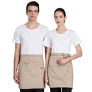 Opromo Denim Half Apron Waist Apron Unisex Waitress/Waiter Apron