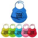 Custom Adjustable Silicone Baby Bibs, Crumb Catcher for Newborns, Waterproof Soft Apron, Toddler Feeding Bib
